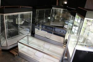 6 Retail Jewelry Display Cases Deluxe Extra Vision Showcases Led Lighting