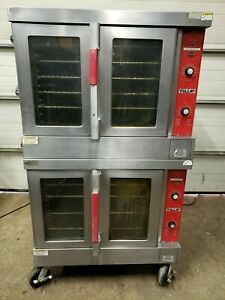 Vulcan Vc4ed Electric Double Deck Stack Full Size Convection Oven Tested