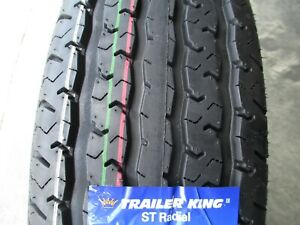 4 New St 205 75r15 Trailer King Rst Radial Tires D 8 Ply 2057515 75 15 75r R15