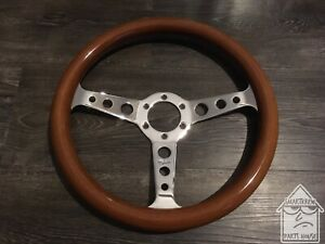 Vintage Peyton 350mm Wood Steering Wheel Jdm Nardi Momo
