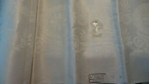 Antique Linen Double Damask Tablecloth 102 X70 Made In Ireland Medallions