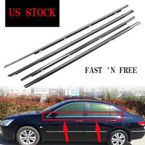 Weatherstrip Window Moulding Trim Seal Belt For Accord 2008 2012 2009 2010 2011