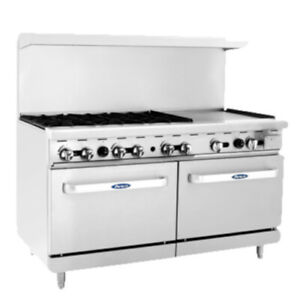 Atosa Ato 6b24g 60 Cookrite Gas Restaurant Range With 6 Burners And 24 Griddle