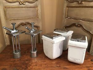 Antique Drugstore Syrup Pump Fruit Dispensers Soda Fountain Fischman Co 1930 s
