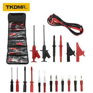 Tkdmr Electrical Multimeter Test Leads Kit Alligator Clips Test Probes Test Hook