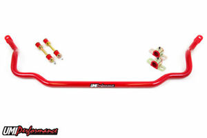 Umi 1978 1988 Gm G Body 1 250 Solid Chromoly Front Sway Bar Red