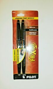 Pilot Erasable Gel Pen Frixion Ball Fine Point 0 7mm 31553 1 Pack 2 Pens