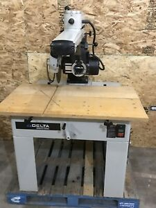 Delta 14 33 401 5hp Radial Arm Saw W stand 3ph 230 460v