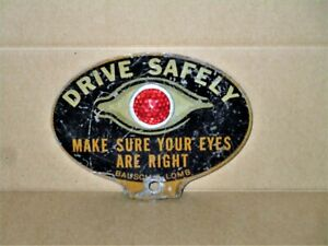 Original Bausch Lomb License Plate Topper Reflector Drive Safely