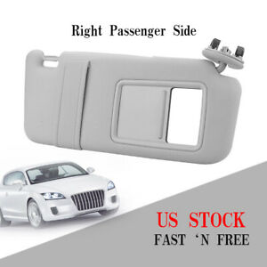 Right Passenger Sun Visor Sunshade For 2007 2011 Toyota Camry Without Sunroof