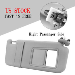Right Passenger Side Sun Visor For 2007 2011 Toyota Camry With Sunroof Gray