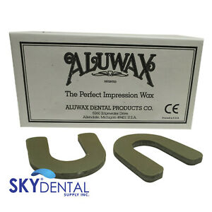 Dental Aluwax Denture U shaped Bite Wafers 40 box Impression Wax