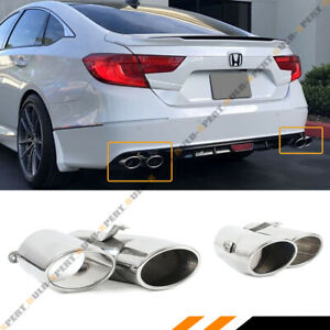 For 2018 19 Honda Accord Sport Touring Akasaka Quad Tip Muffler Exhaust Finisher