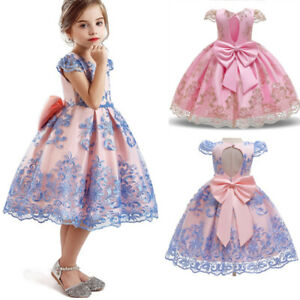 Baby Kids Girls Dress Flower Princess Party Wedding  Bridesmaid Gown Size 6 8T $13.85