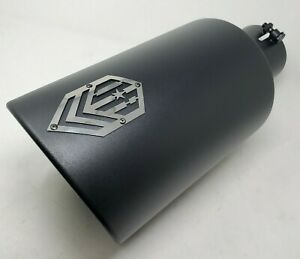 Offroad Arsenal 5 In 7 Out 18 Diesel Round Exhaust Tip Matte Black Top Logo