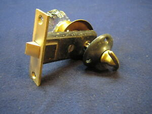Antique Victorian Closet Door Mortise Lock W Thumb Turn 12 Point Crystal Knob