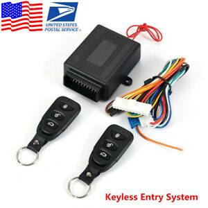 Universal Car Keyless Entry Remote Control Door Lock Security Alarm System Usa