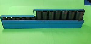 Matco Tools 3 8 Drive 14pc Metric 6 Pt Deep Impact Socket Set 8 24mm Sbdpm146t