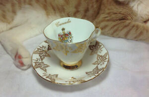 Vintage Canada Tea Cup And Saucer Society Made In England
