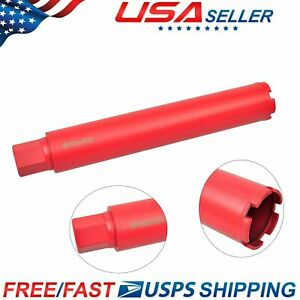 Us Dry And Wet Diamond Core Drill Bit Set For Concrete Masonry 2 5 X 1 4 Red