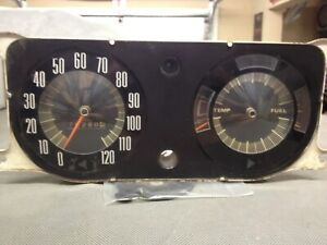 1968 1969 Amc Amx Javelin Speedometer Dash Gauges Good Board
