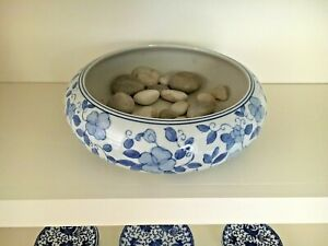 Chinese Asian Bowl Blue White China Porcelain Floral Pattern 11