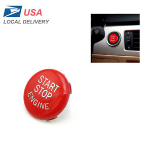For Bmw E Series E60 E70 E71 E90 Red Engine Start Button Switches Replace Kit Us