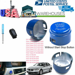 Auto Start Push Button Switch Without Stop Replace Kit Blue For Bmw F Series Usa