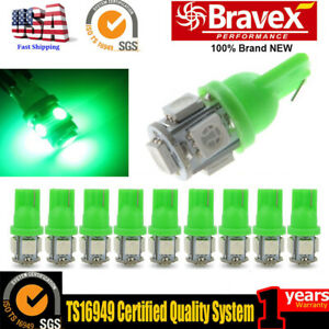 20pcs T10 8 Smd 1206 Led White Super Bright Car Lights Bulb 194 168 2825 W5w
