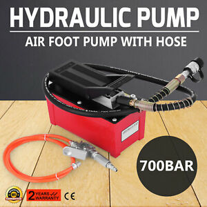 Air Hydraulic Foot Pump W Air Line Hose B 70bq Fast Acting 10000 Psi Actuated