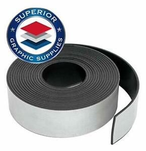 Self Adhesive Strong Flexible Magnetic Tape Roll Durable 0 03 Thick 1 Roll Pack