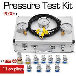 Hydraulic Pressure Test Kit 8700 Psi Quick Release Coupling Portable Hydraulic