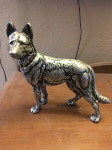 Hubley Doorstop Antique Cast Iron German Shepard Dog K9 Pet Police Vtg Figurine