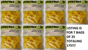 175 Total Patriot 819047 Yellow Screw On Electric Fence T post Insulator