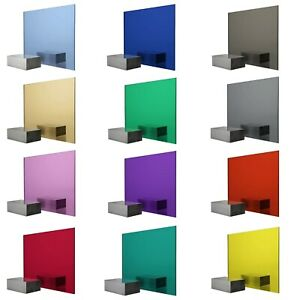 Coloured Perspex Acrylic Plaskolite Mirror Sheet 3mm Thick Red Gold Blue Pink