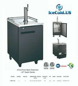 Kegerator Fridge Stainless Steel Beer Cooler Commercial Single Tower Dispenser