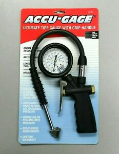 Accu Gage Ug160 Ultimate Tire Gauge W Grip Handle Brand New