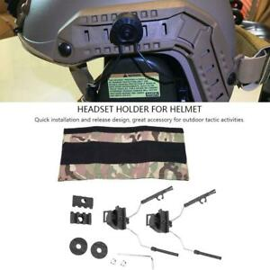 Tactics Hunting Helmet Rail Adapter Headset Holder Set for ACH-ARC FAST OPS-Core