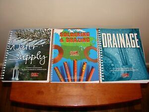 Lot Of 3 Pipe Trades Plumbing Books Drainage Water Supply Soldering brazing