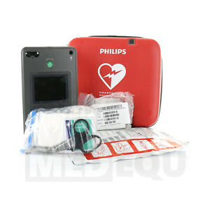 Philips Heartstart Fr3 Aed With Ecg Bundle 861389 With Case New Battery And Pads