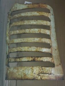 Oliver 88 Tractor Left Grill Section Oliver Sheet Metal Part Nose Cone Grill