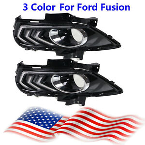 Us 3 Color 13 16 Led Daytime Running Fog Driving Light For Ford Fusion 2 Pcs
