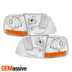 Fits 1998 2002 Ford Expedition 1997 2003 F 150 Headlights Signal Lights Set