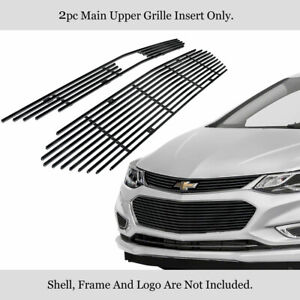 Fits 2016 2018 Chevy Cruze Upper Stainless Black Billet Grille Grill Insert
