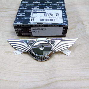 Genuine Bentley Continental Gt Gtc Emblem Front Grille Wing Badge Oe 3w8853621b