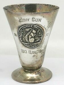 Derby Silverplate 1930 High Gun Trophy Cup With Silver Emblem
