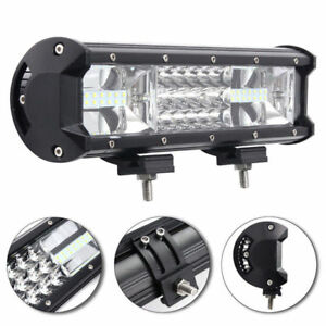 540w 12 Inch Triple Row Cree Led Spot Flood Work Light Bar Offroad Driving Lamp