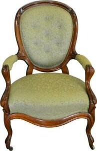 17491 Victorian Carved Balloon Back Gentleman S Arm Chair