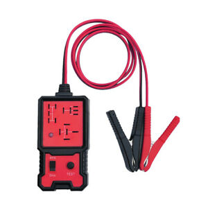 12v Car Battery Checker Electronic Relay Tester W Clips Diagnostic Tool Parts
