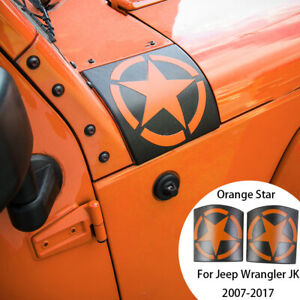 2x Abs Cowl Body Armor Side Cowl Cover For 07 16 Jeep Wrangler Jk Orange Star
